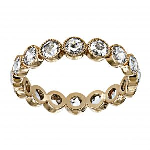 Single Stone Medium Gabby Rose Cut Diamond Eternity Band