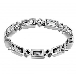 Single Stone Madeline Platinum Eternity Band