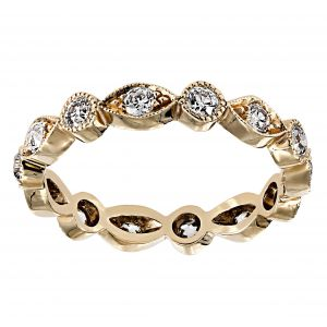 Single Stone Elizabeth Rose Gold Eternity Band