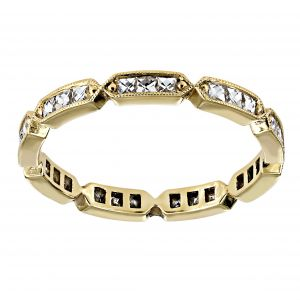 Single Stone Olivia Yellow Gold Eternity Band