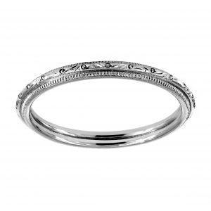 Single Stone Lucy Platinum Wedding Band