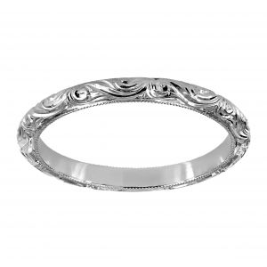 Single Stone Natalie Platinum Wedding Band