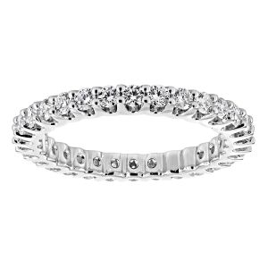 TWO by London Round Diamond Shared Prongset Eternity Band