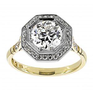 Single Stone Savannah Octogonal Engagement Ring