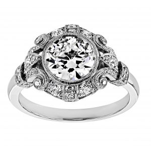 Single Stone Tiffany Art Deco Engagement Ring