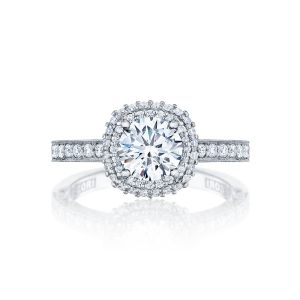 Tacori Blooming Beauties Double Diamond Halo Engagement Ring