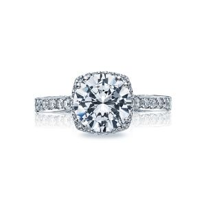 Tacori Dantela Cushion Diamond Halo Engagement Ring