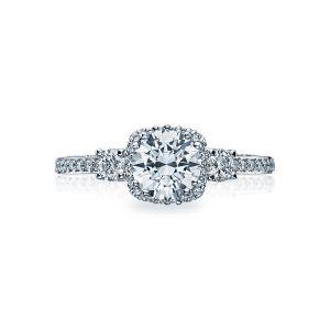 Tacori Dantela Three Stone Engagement Ring