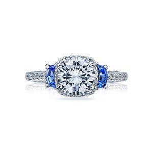 Tacori Dantela Blue Sapphire Three Stone Ring