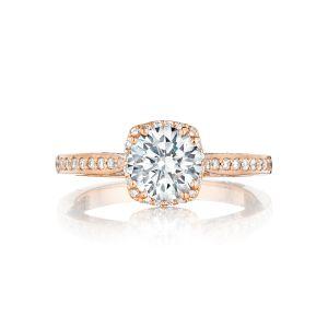 Tacori Dantela Pave Halo Engagement Ring