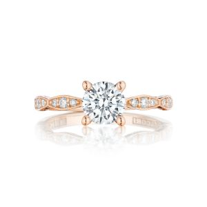 Tacori Sculpted Crescent Marquise Pave Engagement Ring