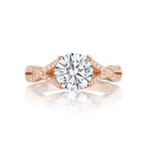 Tacori Ribbon Braided Pave Diamond Engagement Ring