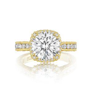 Tacori Royal Cushion Halo Diamond Engagement Ring