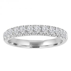 TWO by London Four Prong Classic Diamond Half Anniversary Band