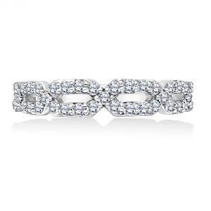 Karl Lagerfeld Intertwined Diamond Wedding Band