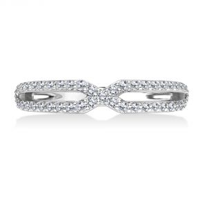 Karl Lagerfeld Geometric Cut Out Diamond Wedding Band