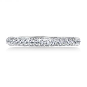 Karl Lagerfeld Three Sided Shared Prong Wedding Band