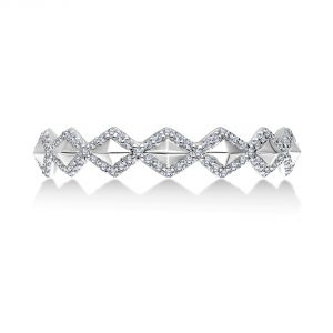 Karl Lagerfeld Diamond Pyramid Eternity Band