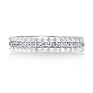 Karl Lagerfeld Double Pyramid and Diamond Eternity Band