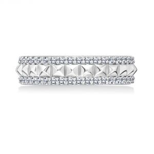 Karl Lagerfeld Diamond and Pyramid Eternity Band