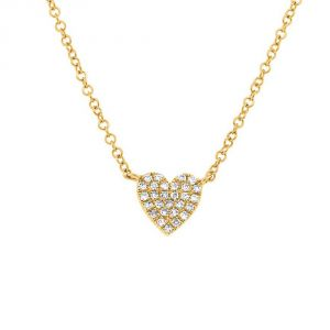TWO by London 14k Diamond Heart Pendant Necklace