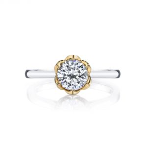 MARS Jewelry Modern Muses Two Tone Petal Solitaire Engagement Ring