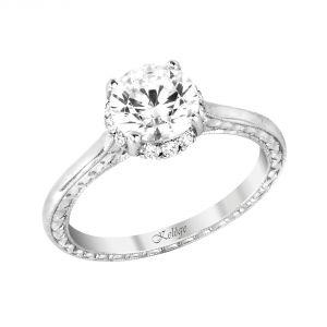 Jack Kelege 18k White Gold Unique Diamond Engagement Ring