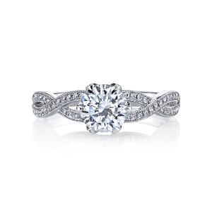 MARS Jewelry Grand Estates Twisted Vintage Diamond Engagement Ring