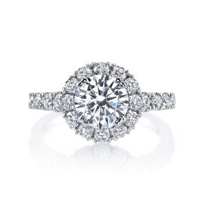 MARS Jewelry Luxe Embellished Diamond Halo Engagement Ring