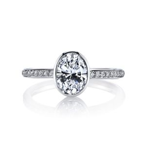 MARS Jewelry Modern Muses Oval Bezel Diamond Engagement Ring