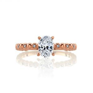 MARS Jewelry Rebel Hearts Burnished Stackable Engagement Ring