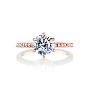 MARS Jewelry Ever After Diamond Crown Engagement Ring