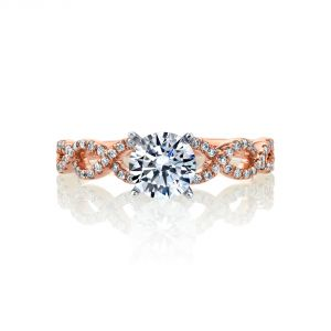 MARS Jewelry Rebel Hearts Twist Stackable Engagement Ring