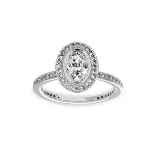 Ritani Oval Diamond Halo Engagement Ring