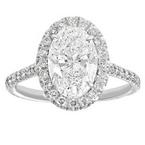 TWO by London Oval and Pave Diamond Engagement Ring