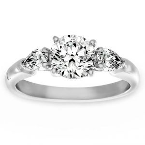 TWO by London Three Stone Round And Pear Diamond Engagement Ring