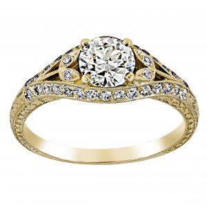 Single Stone Chloe Round Diamond Engagement Ring