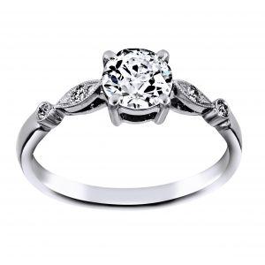 Single Stone Caitlyn Round Diamond Engagement Ring