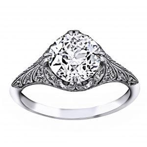 Single Stone Charlotte Round Diamond Engagement Ring