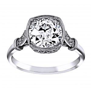 Single Stone Colette Bezel Set Diamond Engagement Ring