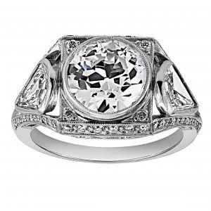 Single Stone Bailey Three Stone Diamond Ring