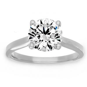 Forevermark Round Diamond U Shaped Solitaire Engagement Ring