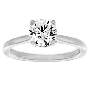 TWO by London One Carat Round Diamond Solitaire Engagement Ring