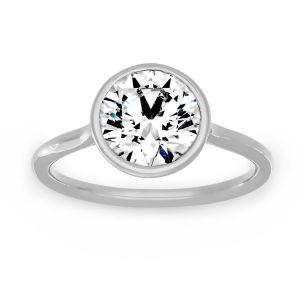 Forevermark Round Diamond Solitaire Bezel Engagement Ring