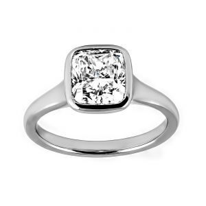 TWO by London Solitaire Cushion Cut Diamond Engagement Ring