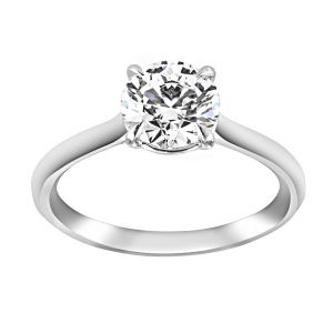 TWO by London Diamond Round Solitaire Engagement Ring
