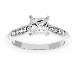 Martin Flyer Princess Cut Diamond Engagement Ring