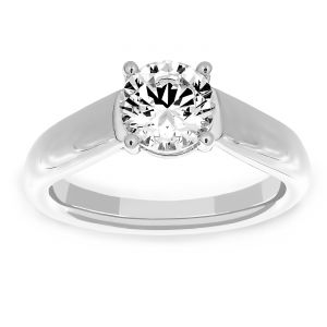 Martin Flyer Tapered Solitaire Engagement Ring