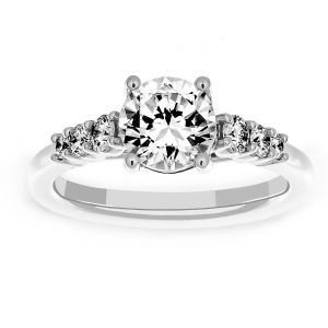 Martin Flyer Round Diamond Four Prong Engagement Ring