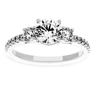 Martin Flyer Three Stone Diamond Engagement Ring